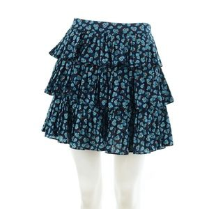 MARC JACOBS NAVY BLUE PRINT COTTON MINI SKIRT 4